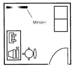 feng shui mirror tips_around desk office placement