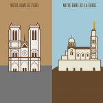 Paris vs Marseille Illustrations 14