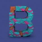 3D Patterned Alphabet-B