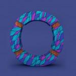 3D Patterned Alphabet-O