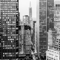 Black and White Streets of San Francisco