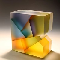 Geometric Glass Sculptures