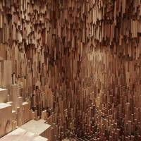 Wooden Cave Installation Featuring 10 000 Carved Tree Species