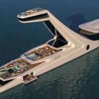 Luxury Yacht Concept Featuring a High Terrace Platform