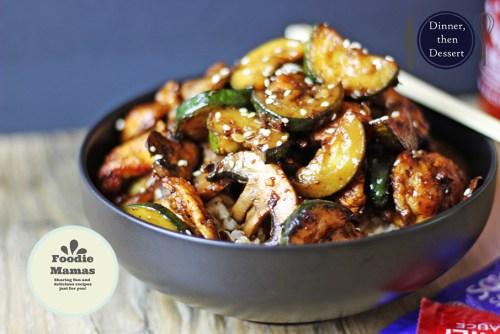 Zucchini & Mushroom Chicken Foodie Mamas