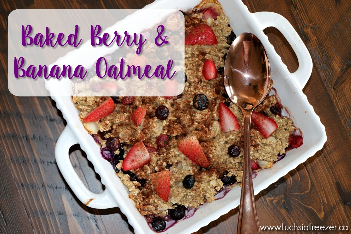 Baked Berry and Banana Oatmeal