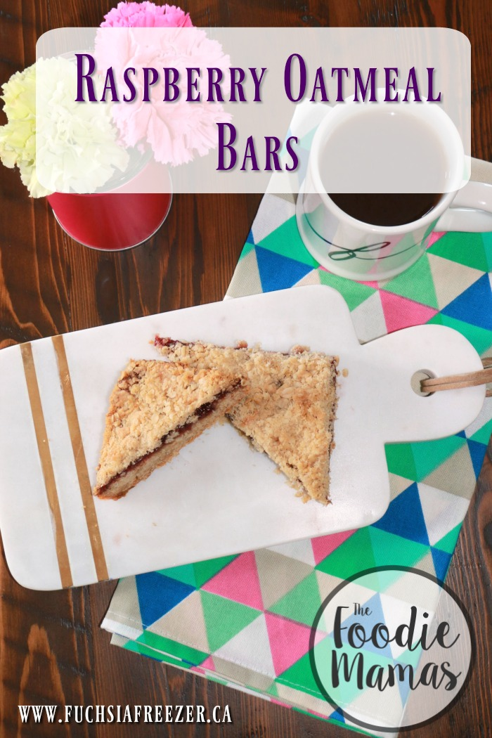 Raspberry Oatmeal Bars #FoodieMamas