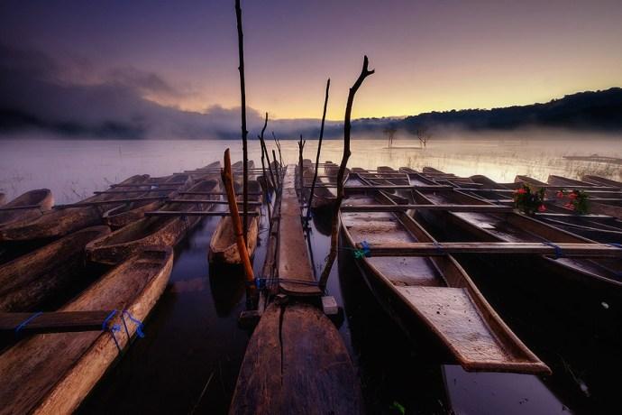 Lake Tamblingan in the Bali mountains at dawn.  Fuji X-T1 & XF55-200mm .jpg