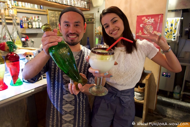 """Alba enjoys a drink with the """"tequila master"""""""