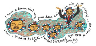 MLK Google Icon