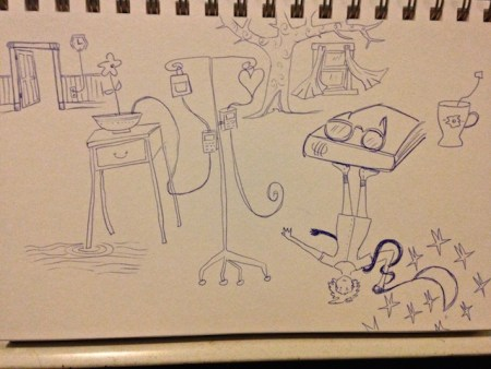 drawing from hospital room 2
