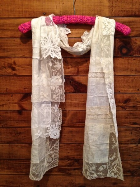 White and Lacey Scarf