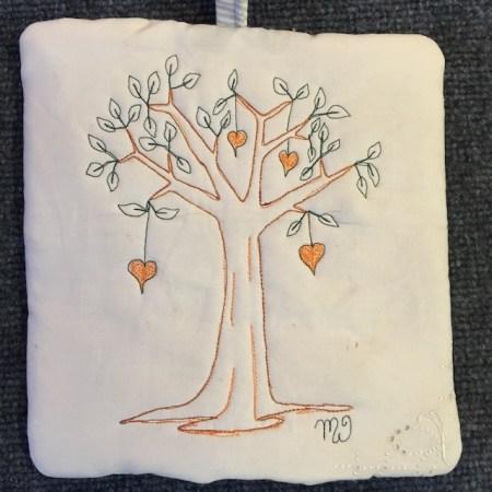 Orange Heart Tree II