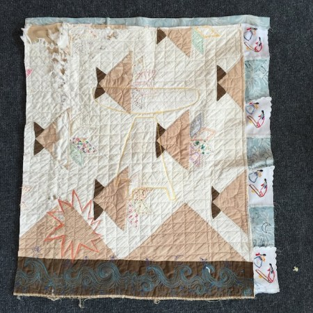 The front of the quilt I used to make this piece