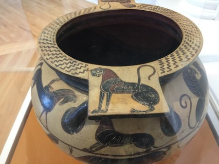 Ancient Greek pottery at the Williams College Musuem