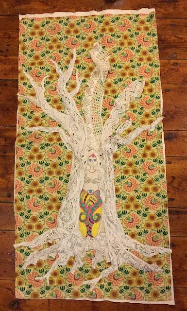 Snake goddess and tree2