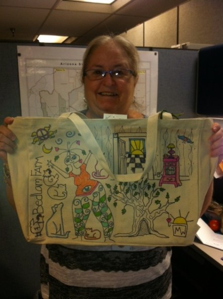 Cindy and her Bedlam Farm Tote Bag