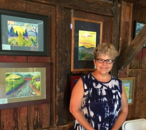 Sara Kelly and her paintings