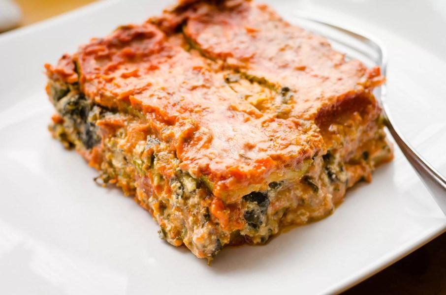 Vegan Gluten-Free Lasagne Plated