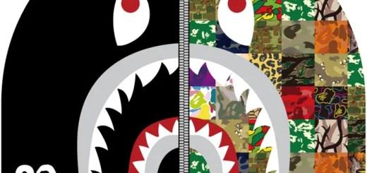 A BATHING APEの20周年を記念して、20種類のSHARK FULL ZIP HOODIEが発売!