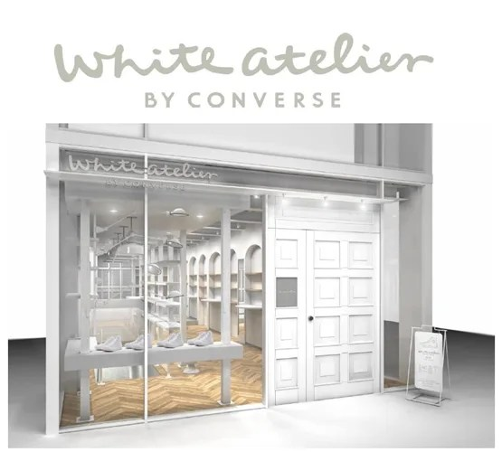 オールホワイトのオールスターをカスタマイズ出来るコンバース、国内初の直営店「ホワイトアトリエ バイ コンバース (White atlier BY CONBVERSE)」が原宿に7/17オープン!