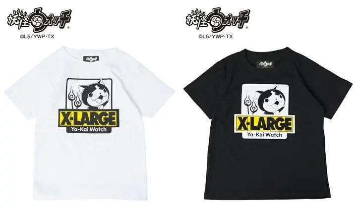 妖怪ウォッチ ジバニャン × X-large KIDSとのコラボTEEが発売!(エクストララージ)