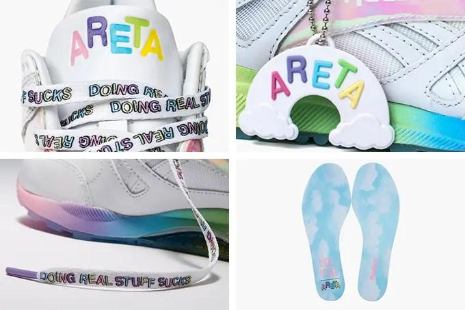 """12/1発売!Areta Szpura × REEBOK VENTILATOR """"Rainbow kicks"""" (リーボック ベンチレーター レインボーキックス) [V69881]"""