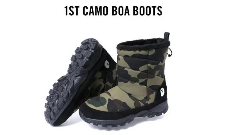 12/26からA BATHING APE 「1ST CAMO BOA BOOTS」が発売! (エイプ カモ ブーツ)