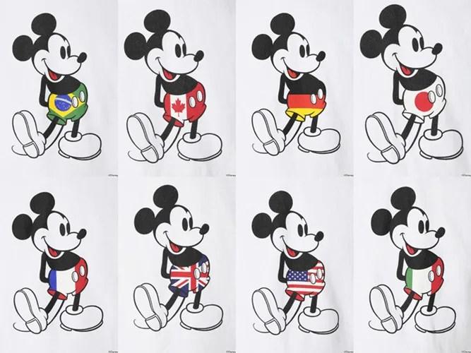 EDIFICE別注!ミッキーのお腹に世界8各国旗がプリントされた「MICKEY WORLDP/Oパーカー」 (エディフス MICKEY MOUSE)