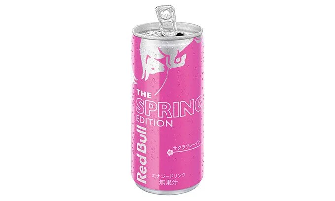 レッドブル 桜Ver!2/16からサクラフレーバー レッドブル・エナジードリンク スプリングエディションが全国で数量限定販売! (Red Bull Energy Drink THE SPRING EDITION)