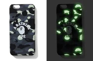 A BATHING APEから暗闇で光る蓄光プリントを使用したCITY CAMOのiPhone6/6S用ケースが3/19発売!(エイプ)