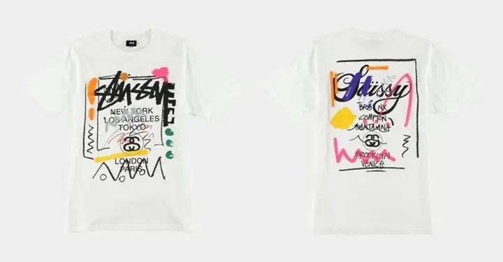 落書きされたSTUSSY WORLD TOUR TEEが発売! (ステューシー ワールドツアー)