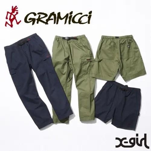 X-girlとGRAMICCIとのコラボでCARGO PANTS/PAINTER SHORT PANTSが6/10発売! (エックスガール グラミチ カーゴ パンツ ペインター ショート)