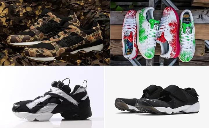 """【まとめ】6/25発売の厳選スニーカー!(ATMOS x ASICS Tiger GEL-LYTE III """"Duck Camo"""")(NIKE AIR RIFT ANNIVERSARY QS)(adidas Originals × Pharrell Williams x BBC """"Palm Tree Pack"""")(REEBOK INSTA PUMP FURY OB """"OVER Branded"""" Pack)他"""
