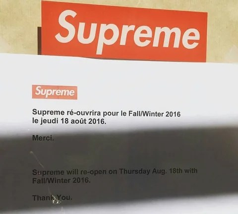 【速報】SUPREME 2016 FALL/WINTER 立ち上げ 国内8/20からの展開予定! (シュプリーム)