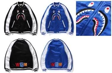 A BATHING APEからシャークモチーフを刺繍で表現したスーベニアジャケットが9/10発売! (エイプ)