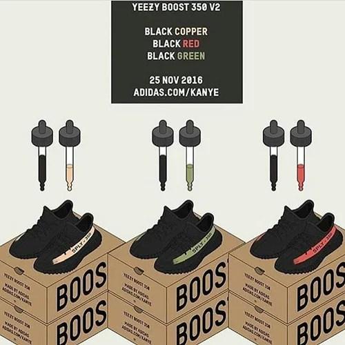 【11/25 ブラックフライデーに発売か?】アディダス オリジナルス イージー 350 ブースト V2 3カラー (adidas Originals YEEZY 350 BOOST V2) [BY1605,9611,9612]