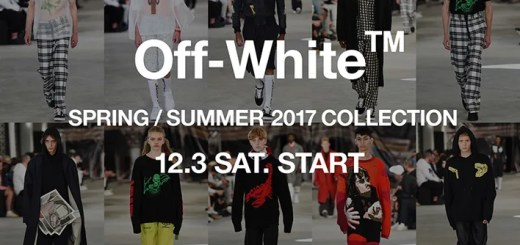 OFF-WHITE C/O VIRGIL ABLOH 2017 SPRING/SUMMER COLLECTIONが12/3展開! (オフホワイト 2017年 春夏 コレクション)