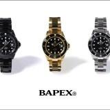 A BATHING APE オリジナルウォッチ シリーズの「BAPEX」から「TYPE 1 BAPEX」3カラーが12/10発売! (エイプ)