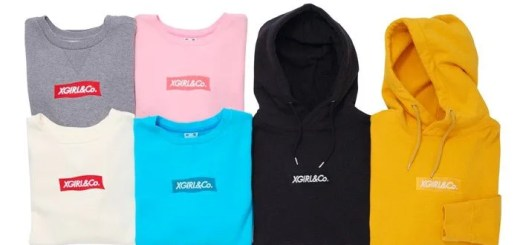 "同色刺繍のBOX LOGO!X-girl ""COLOR LOGO SWEAT PULLOVER HOODIE"" (エックスガール)"