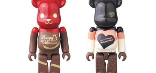 ショコラスイーツをイメージしたバレンタイン仕様のベアブリック 2モデルが1月発売 (BE@RBRICK VALENTINE)