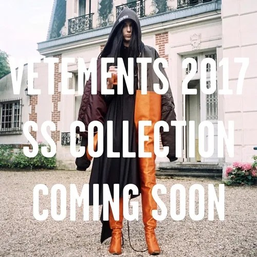 VETEMENTS 2017 S/S COLLECTIONが国内1/16から展開! (ヴェトモン 2017年 春夏 コレクション)