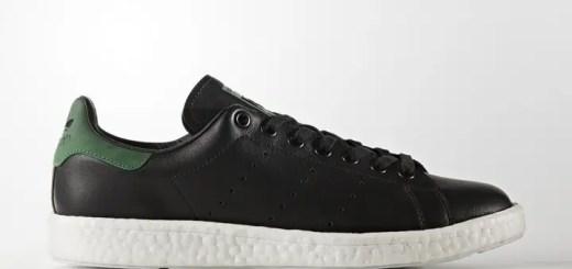 """アディダス オリジナルス スタンスミス ブースト """"ブラック/グリーン"""" (adidas Originals STAN SMITH BOOST """"Black/Green"""") [BB0009]"""