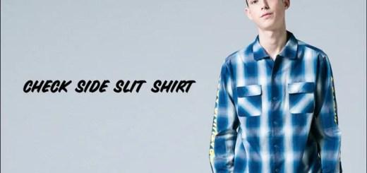 A BATHING APEから濃淡のある滲んだようなチェック柄が特徴のオンブレーチェックで仕上げたシャツ「CHECK SIDE SLIT SHIRT」が2/11発売! (ア ベイシング エイプ)