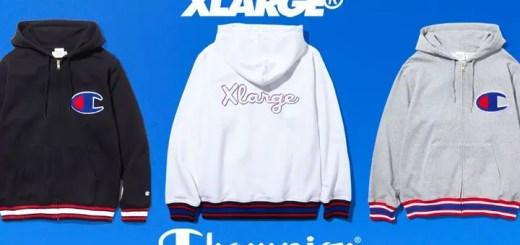 2/24発売!X-large × Champion ZIP HOODED SWEAT 3カラー (エクストララージ チャンピオン ジップ フーディー スウェット)