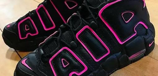 """4/1発売!ナイキ ウィメンズ エア モア アップテンポ """"ブラック/ハイパー ピンク"""" (NIKE WMNS AIR MORE UPTEMPO """"Black/Hyper Pink"""")"""