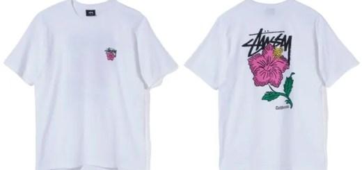 カリフォルニアの薔薇をテーマに描かれたハイビスカスのグラフィックSTUSSY Cali Rose Teeが発売中! (ステューシー)
