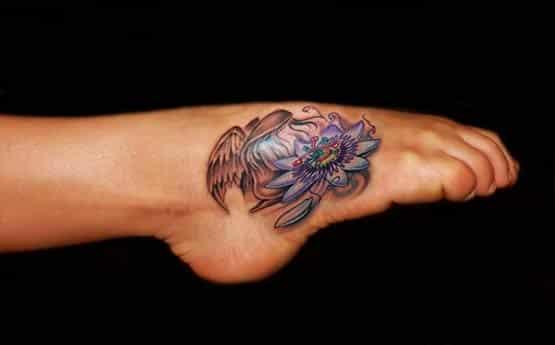 angel foot tattoo designs