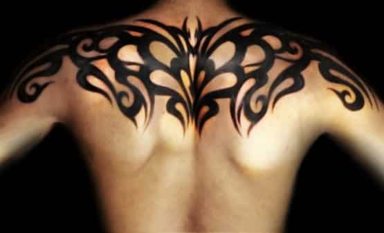 tribal tattoo upper back design