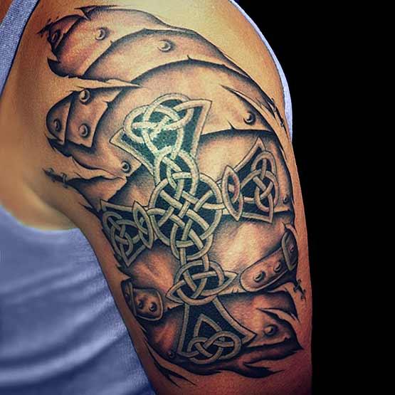 Celtic Cross Tattoos For Men